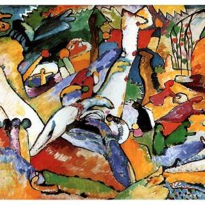 Vasili Kandinski, Studiu pentru compoziţie II, 1910