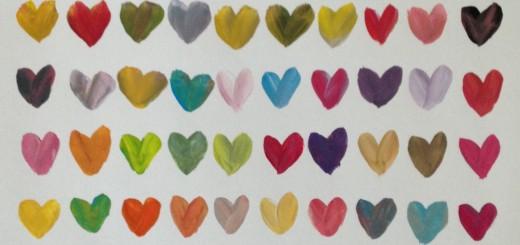 100 de inimioare colorate