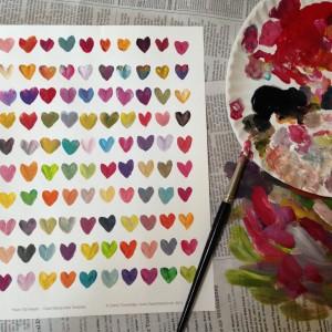 100 de inimioare colorate. fara apa