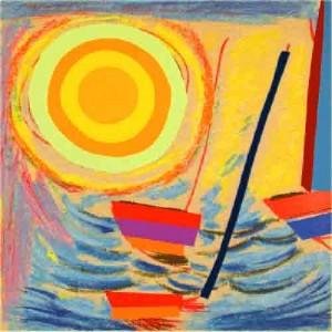Terry Frost, Soare şi bărci, 2003