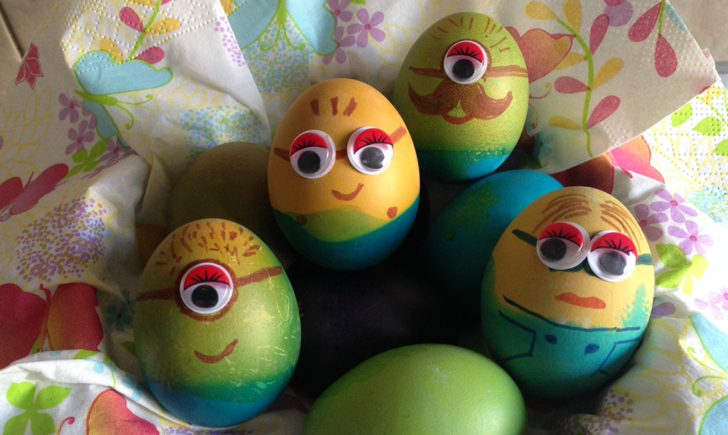 oua de Paste pentru copii