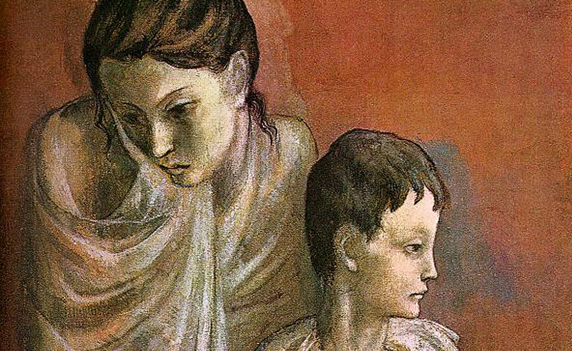 mother-and-child-baladins Pablo Picasso