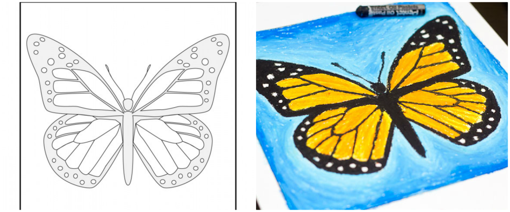 fluture monarh activitati pentru copii 2