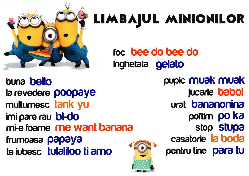 limbajul minionilor