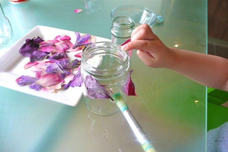 borcan cu flori presate