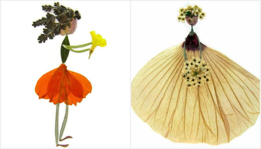 colaj flori presate