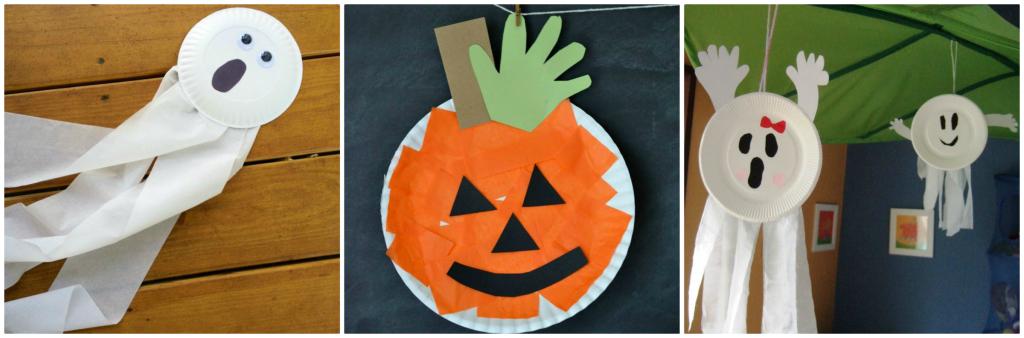 colaj farfurie din hartie de Halloween