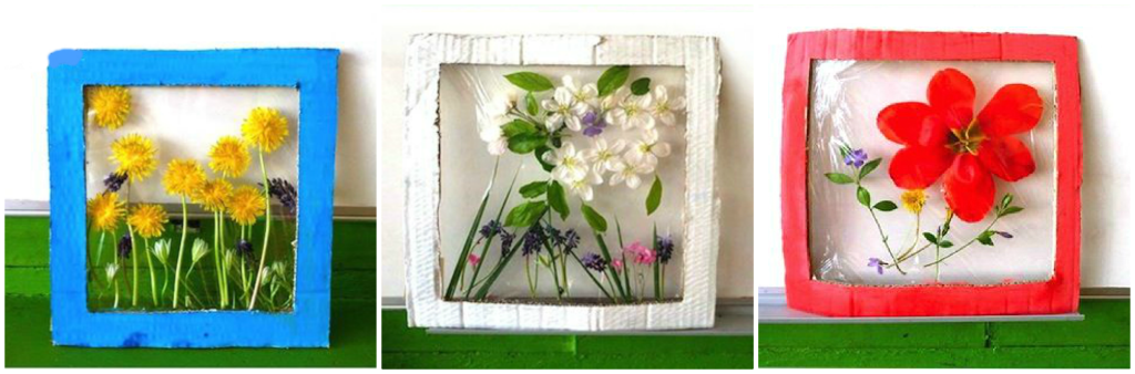 tablouri flori presate