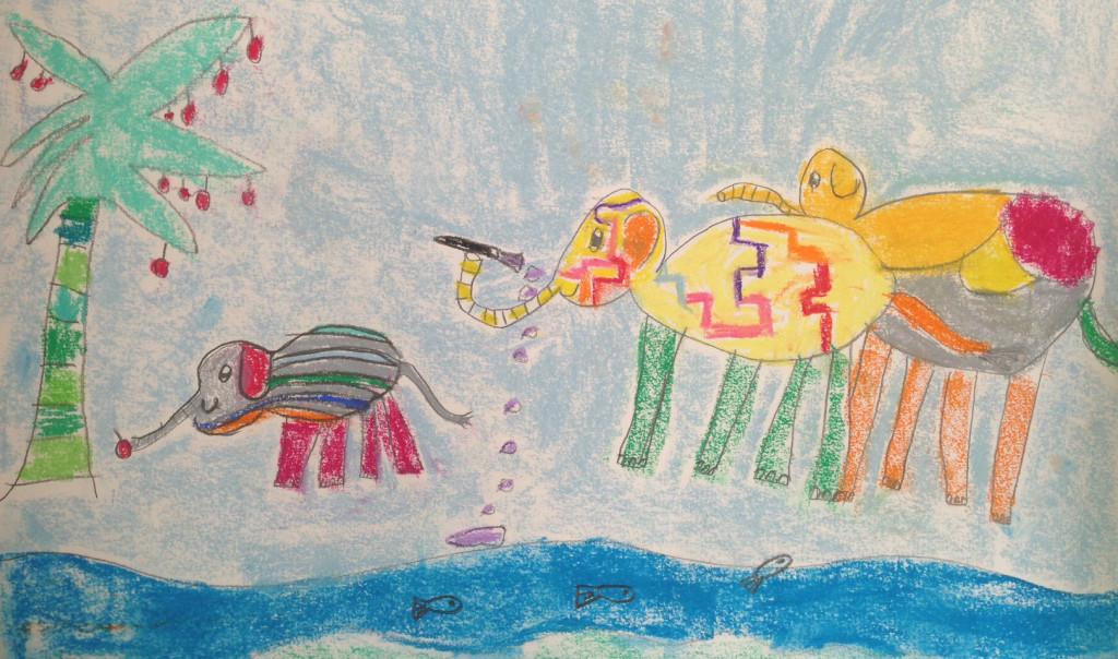 carti pentru copii. Elefantul Elmer.