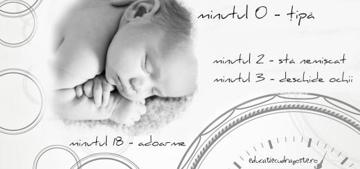 primele ore din viata unui nou-nascut