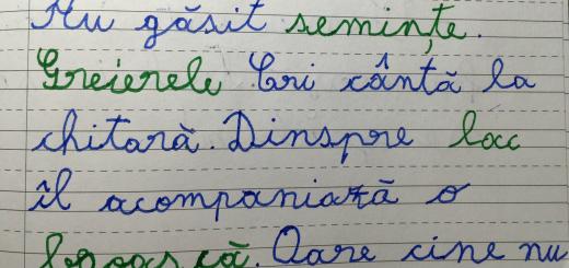 scris de mana elevi copii