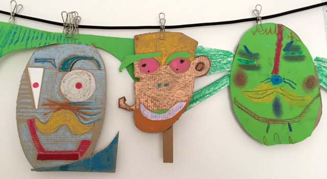 masti colorate din carton activitati copii